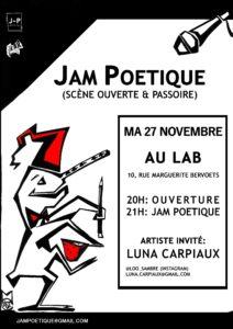 Jam Poétique Novembre Mathilde Collard