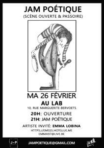 Jam Poétique Février Mathilde Collard
