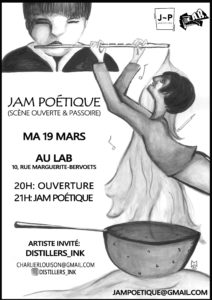 Jam Poétique mars 2019 Mathilde Collard
